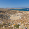 Ancient amphitheatre, Delos island, Greece - Stock Photo