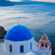 Stock Photo: Greek church at Santorini island
