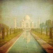 Imagen vintage de taj mahal, agra, india — Foto de Stock