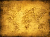 Ancient map of the worl — Stock Photo