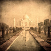 Vintage image of Taj Mahal, Agra, India — Foto de Stock