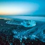jokulsarlon buzul lagün, İzlanda içinde yüzen buzdağı — Stok fotoğraf