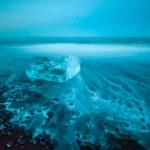 плавающие айсберги в лагуне Ёкюльсаурлоун ледник, Исландия — Стоковое фото
