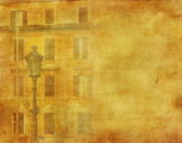 Vintage image of house in Rome, Italy — Stock Photo