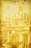Vintage image of St. Peter's Basilica, Rome, Italy — Stock Photo