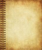 Sida från gamla grunge notebook — Stockfoto