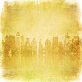 Grunge beeld van de skyline van new york — Stockfoto