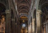 Interior de siena duomo, toscana, italia — Foto de Stock