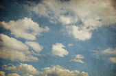 Retro image of cloudy sky — Foto Stock
