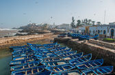Fisherman boats in Essaouira port, Morocco — Stock Photo