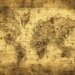 Ancient map of the world — Stock Photo