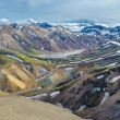 Scenic highland area of Landmannalaugar, Iceland — Stock Photo