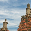 Buddha statues at Wat Wattanaram, Ayutthaya — Stock Photo #31952415