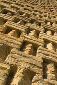 Perfectly textured ancient brick pattern — Stock Photo