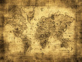 Ancient map of the world — ストック写真