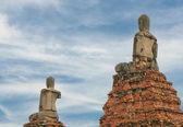 Buddha statues at Wat Wattanaram, Ayutthaya — Stock Photo