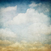 Vintage image of cloudy sky — Stock Photo