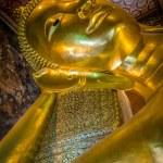 Reclining buddha, Wat Pho, Bangkok, Thailand — Stock Photo #32083349
