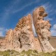 Valle de rocas rock formations, Altiplano Bolivia — Stock Photo