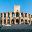 The Arles Amphitheatre, Roman arena in French town of Arles — Stock Photo