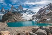 菲茨罗伊山和拉古纳德洛斯特雷斯,巴塔哥尼亚,阿根廷 — 图库照片