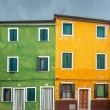 Stock Photo: Colorful houses of Burano, Venice, Italy