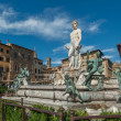 Fountain of Neptune in Florenc — Stock Photo