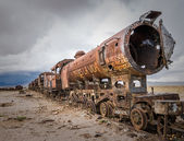 Train cemetery — Stock Photo