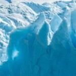 Blue ice of Perito Moreno Glacier, Argentina — Stock Photo