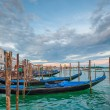 Gondolas at Grand Canal, Venice, Italy — Stock Photo #34361557