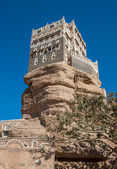 Dar Al-Hajar Rock palace in Wadi Dahr, Yemen — Stock Photo