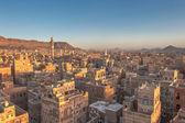 Panorama sanaa, jemen — Zdjęcie stockowe