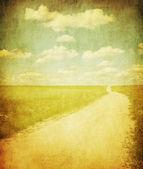 Grunge görüntü contruside yol — Stok fotoğraf