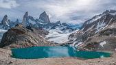 Fitz Roy mountain and Laguna de los Tres, Patagonia, Argentina — Stock Photo