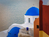 Greek church at Santorini island — Stock Photo