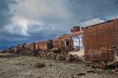 τρένο νεκροταφείο — 图库照片