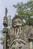 čínská kamenná socha ve wat pho, bangkok, thajsko — Stock fotografie