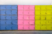 Colorful metal boxes — Stock Photo