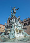 Fountain of Neptune in Bologna — Stock Photo