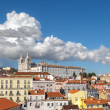 View of Lisbon and Monastery of Sao Vicente de Fora, Portugal — Stock Photo #45024941