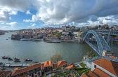 路易斯桥,葡萄牙波尔图的全景 — 图库照片