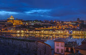 Night panorama of Porto and Vila Nova de Gaia, Portugal — Stock Photo