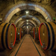 Wine barrels (botti) in a Montepulciano cellar, Tuscany — Stock Photo #48126229