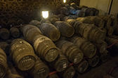 Port wine cellar in Vila Nova de Gaia, Portugal — Stock Photo