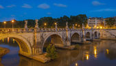 Sant-Angelo bridge in Rome — Stock Photo