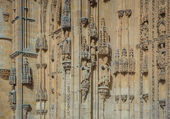 Architectural details of New cathedral in Salamanca — Stock Photo