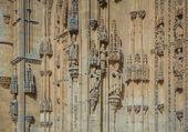 Architektonische Details der neuen Kathedrale in salamanca — Stockfoto