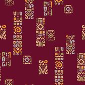 Hintergrund mit elementen des afrikanischen ornament — Stockvektor