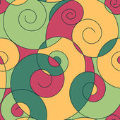 Colorful spirals seamless pattern — Stock Vector