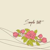 Fond de vecteur avec des fleurs de magnolia pour votre carte — Vecteur